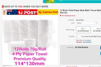 Toilet paper for nearly $35.