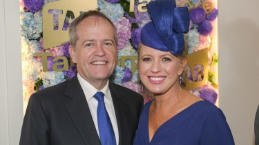 Bill Shorten - with wife Chloe at the Melbourne Cup - seems unlikely to tolerate being cast as a scapegoat into the desert.