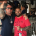 Ali Bazzi (right) with Comanchero boss Mark Buddle in the Mediterranean. Buddle allegedly tasked Bazzi with taking charge of the gang in Australia.