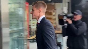 Crow David Mackay arrives at the tribunal.