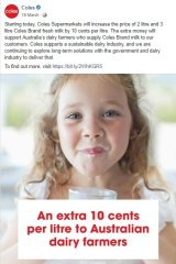 A sample of the representations made by Coles regarding its 10 cent levy.