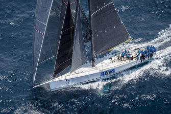 Low-profile yacht URM emerged as a contender on day two of the race.