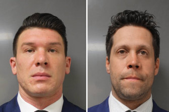 Composite photo of suspended Buffalo police officersRobertMcCabe (L) and AaronTorgalski.