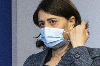 Gladys Berejiklian prepares to announce her resignation.