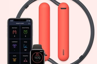 The smart rope app keeps track of your jumps, and there's even an Apple Watch version.