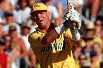Dean Jones in action for Australia in 1994.