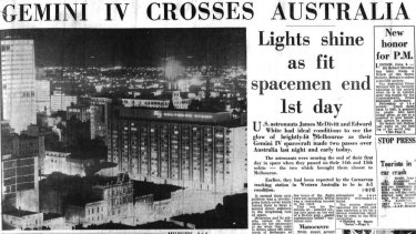 Front page of The Age published on June 5, 1965.