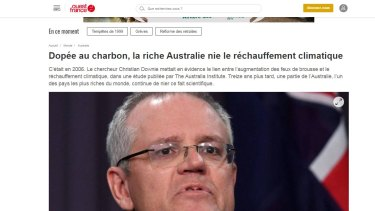 Ouest-France's stinging criticism of the Australian government on climate change.