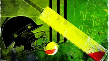 Stumping up: Cricket bosses are trying to find way to economise as revenue plunges as a result of the coronavirus crisis. Illustration: Dionne Gain