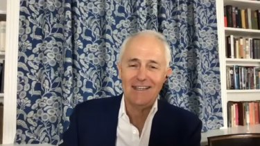 Malcolm Turnbull in his home study.