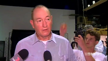Maligned Queensland senator Fraser Anning has lashed out at a young protester.