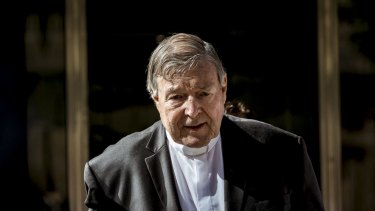 Cardinal George Pell leaves the County Court after being found guilty of sexually assaulting two choirboys.
