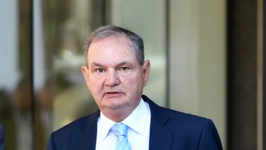 Former Ipswich mayor Paul Pisasale arriving at the Brisbane District Court last week.
