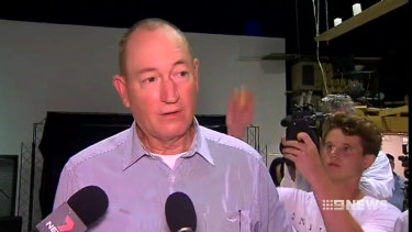 Constroversial Senator Fraser Anning has lashed out at a young protester.