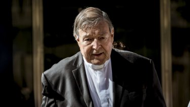 George Pell leaves the County Court after being found guilty of sexually assaulting two choirboys.