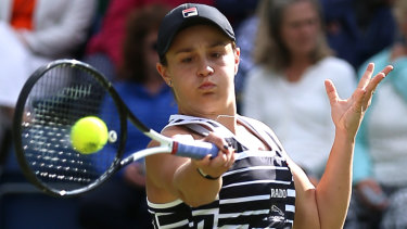 Ash Barty during day seven of the Nature Valley Classic at Edgbaston Priory Club, Birmingham