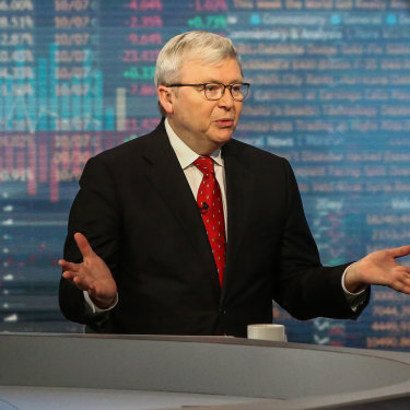 Rudd is regarded in the US as a respected commentator on Asian affairs.