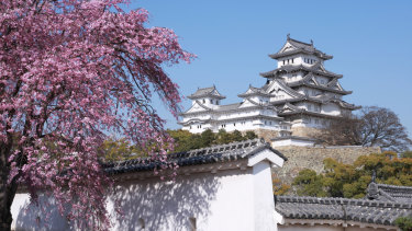Himeji Castle is regarded as the finest surviving example of prototypical Japanese castle architecture.