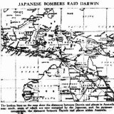 Map of Japanese attack of Darwin from the Sydney Morning Herald, February 20, 1942