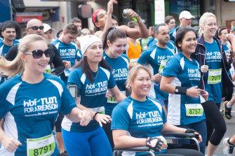 Participants at the start line at the HBF Run for a Reason.