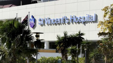 The incident allegedly occurred at St Vincent's Hospital in Sydney.