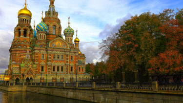 Sights like the Church of the Saviour on Spilled Blood in St. Petersburg, Russia will be closed to tourists with a ban on foreigners from Wednesday.