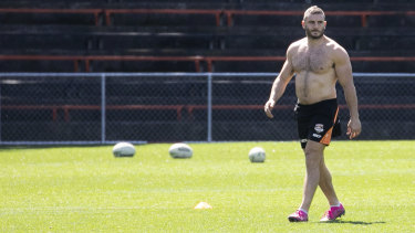Robbie Farah at Tigers training on Thursday.
