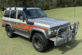 A1987 Toyota LandCruiser Sahara Auto 4x4 selling for $75,000 online.