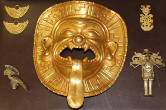 A unique Tumaco gold mask is among more than 19,000 archaeological artefacts and other artworks recovered as part of a global operation spanning 103 countries.