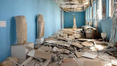 IS fighters destroyed statues and damaged the Palmyra Museum when they retook the city in December 2016.
