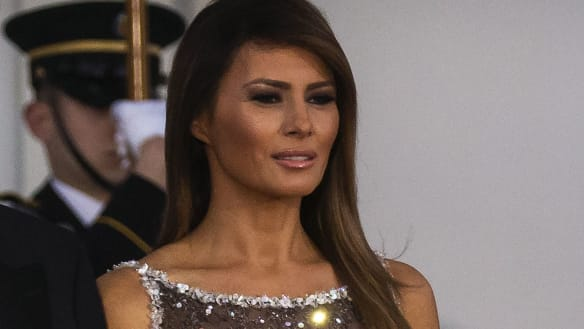 Melania Trump channels Celine Dion during French state visit