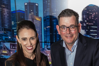 Victorian Premier Daniel Andrews and New Zealand Prime Minister Jacinda Ardern speak regularly to compare notes on the virus.