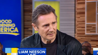 Liam Neeson addresses his controversial interview on Good Morning America.