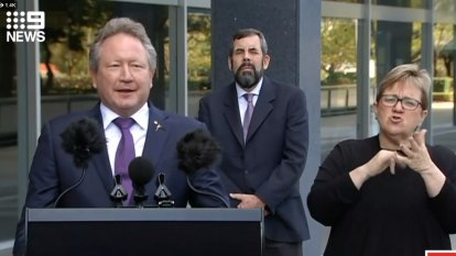 Andrew Forrest's Minderoo Foundation to fly out medical supplies from China