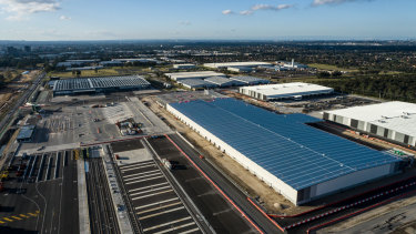 Qube's Moorebank freight hub in south-west Sydney.