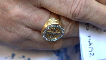 John Setka's union ring.