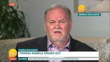 Thomas Markle is a regular on British breakfast television.