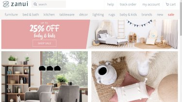 Online furniture and homeware store Zanui has entered voluntary administration, leaving customers in the lurch.