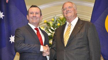 State Premier Mark McGowan with new WA Governor Kim Beazley.