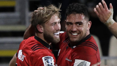 Imposing: The Crusaders maintained their intensity against the Chiefs despite changes to personnel.