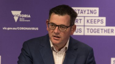 Victorian Premier Daniel Andrews at the daily COVID-19 press conference.
