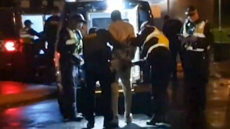 Police arrest youths in St Kilda after a brawl involving over 100 people.