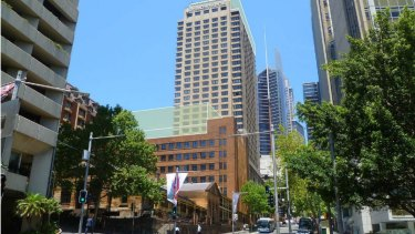The owners of the InterContinental Hotel plan to build a grand ballroom over Transport House, which stretches between Macquarie Street and Phillip Street in Sydney's CBD.