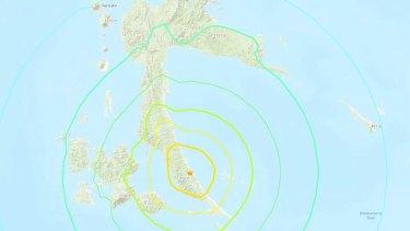 An earthquake of magnitude 7.3 struck the eastern Indonesian island of Halmahera.