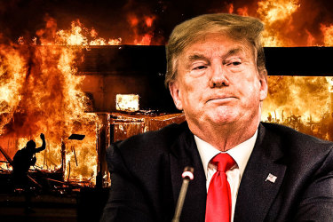 US President Donlad Trump did not rush to comfort the nation and quell protests.