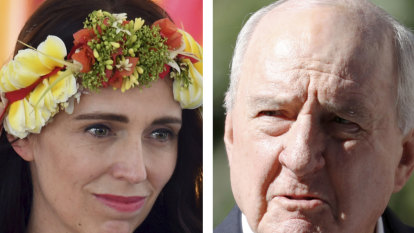 Jones again attacks Ardern who brushes off 'sock down her throat' comment