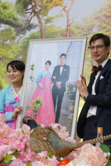 A picture of Alek Sigley and his wife from his blog on life in Pyongyang.