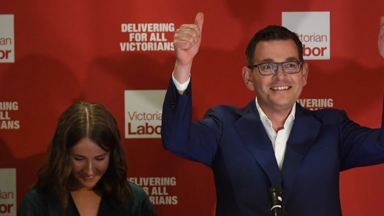Daniel Andrews after winning the 2018 state election.