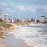 Perth's wild winter weather prompts Fremantle beach closure