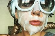 Lady gaga sheet mask via Instagram